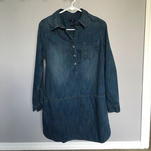 EUC Gap Denim Long Sleeve Mini Dress